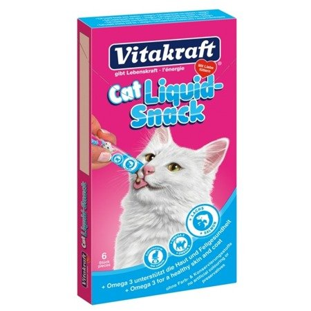 Vitakraft Cat Liquid Snack Łosoś + Omega-3 6 szt.