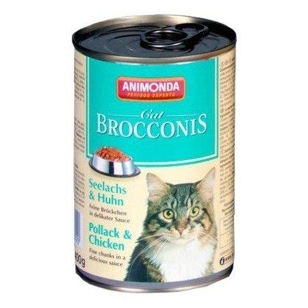 ANIMONDA Brocconis Cat puszka z rdzawcem i kurczakiem 400 g