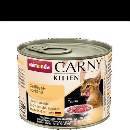 ANIMONDA Carny Kitten puszka Mix Drobiowy mieszanka mięs drobiowych 200 g