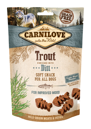 Carnilove Semi-Moist Snack Trout Enriched With Dill 200 g, Pstrąg i Koper