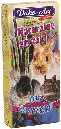 Dako-Art Gryzaki naturalne dla gryzoni 90g gałązki