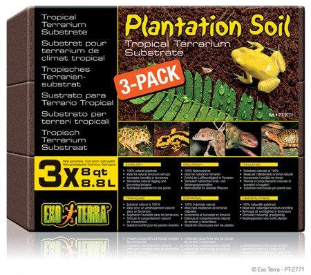 Exo Terra Plantation Soil-Brick - Włókno kokosowe 3 x 650 g