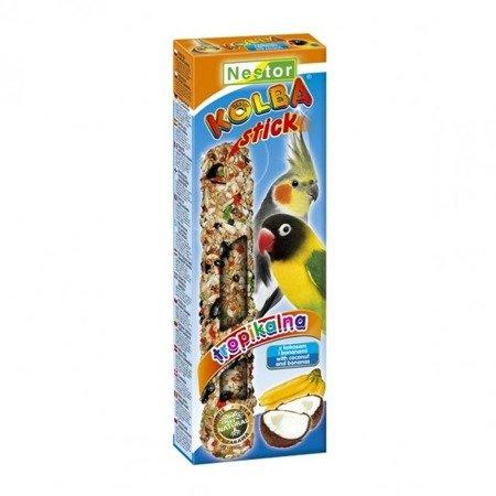 NESTOR stick kolba dla średnich papug TROPIKALNA owoce tropikalne z kokosem i bananem 115g