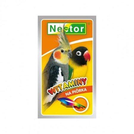 """Nestor witaminy """"na piórka""""  dla średnich papug 20 g"""