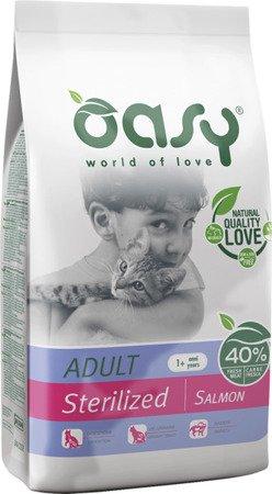 OASY DRY CAT Sterilized - Łosoś 1,5 kg