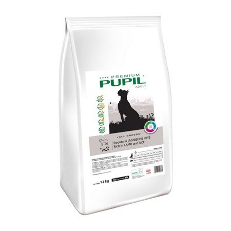 PUPIL Premium ADULT MEDIUM & LARGE bogata w jagnięcinę i ryż 12 kg