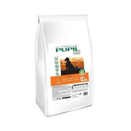PUPIL Premium LIGHT & SENIOR MINI bogata w indyka i ryż 10 kg