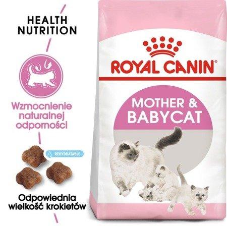 ROYAL CANIN Mother&Babycat 400g karma sucha dla kotek w okresie ciąży, laktacji i kociąt od 1 do 4 miesiąca życia