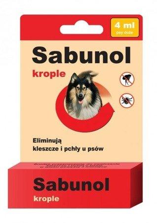 Sabunol Krople na Pchły i Kleszcze 4 ml dla psów od 20 do 40 kg